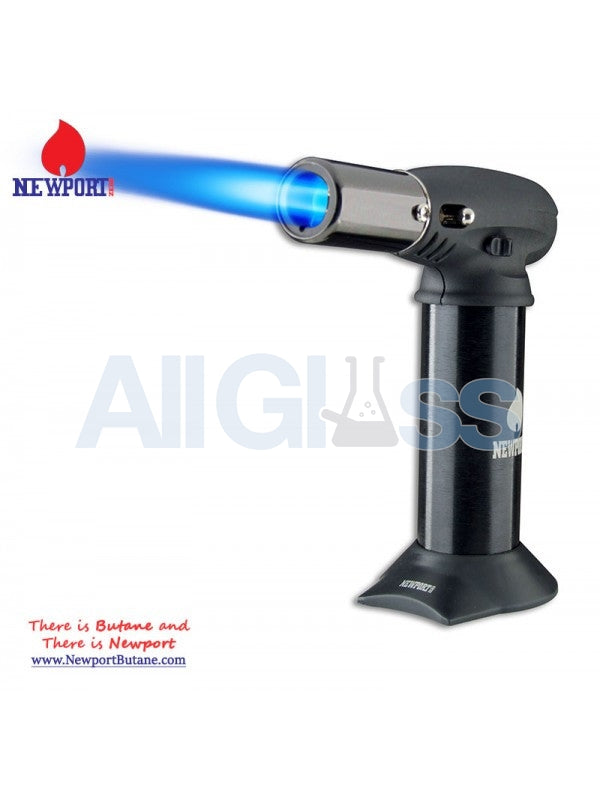 "Newport Zero 5"" Junior Turbo Torch - Black , Smoking Accessory - Newport Butane, AllGlass.com  - 1"