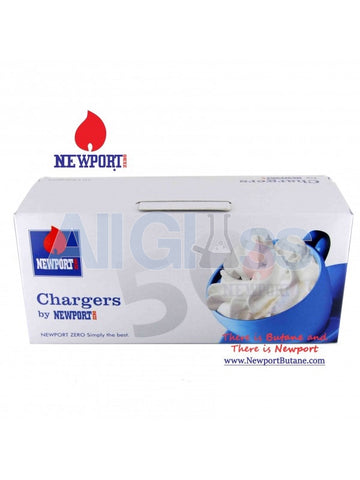 Whipped Cream Chargers 50 CT Box , Smoking Accessory - Newport Butane, AllGlass.com  - 1