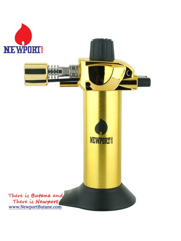 "Newport Zero 5.5"" Mini Torch - Gold , Smoking Accessory - Newport Butane, AllGlass.com  - 1"