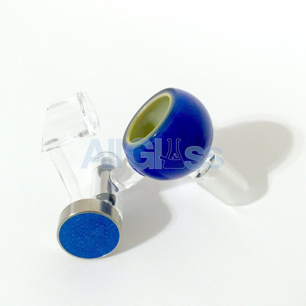 Mothership Glass Honey Bucket + Limited Blue Dial Left Handed Quartz Swing of Life - Blue Cheese Over Slyme , Glass Concentrate Accessory - AllGlass.com, AllGlass.com  - 1