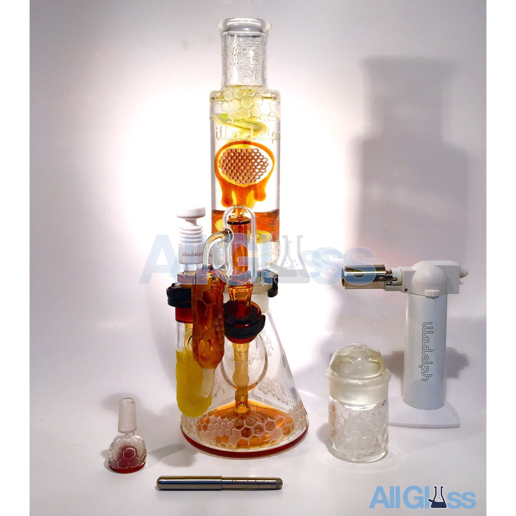 Dave Strobel x Illadelph Glass x Liberty 503 Glass Honeydrip Honeycomb Custom Coil Set 9/10 ,  - AllGlass.com, AllGlass.com