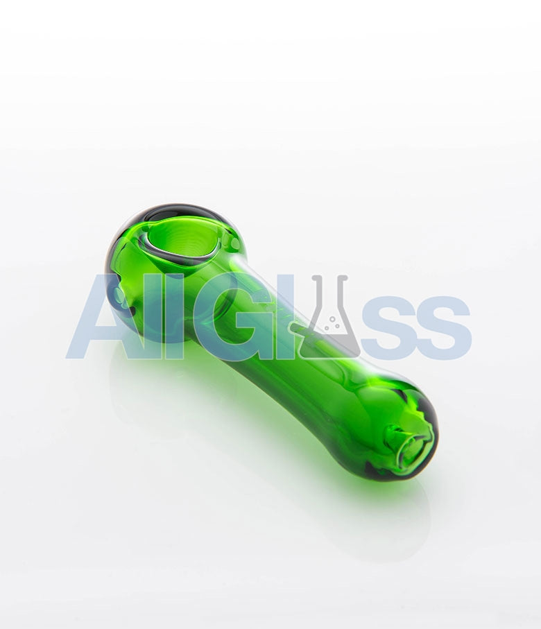 PURR Glass Spoon - Green , Flower - PURR Glass, AllGlass.com