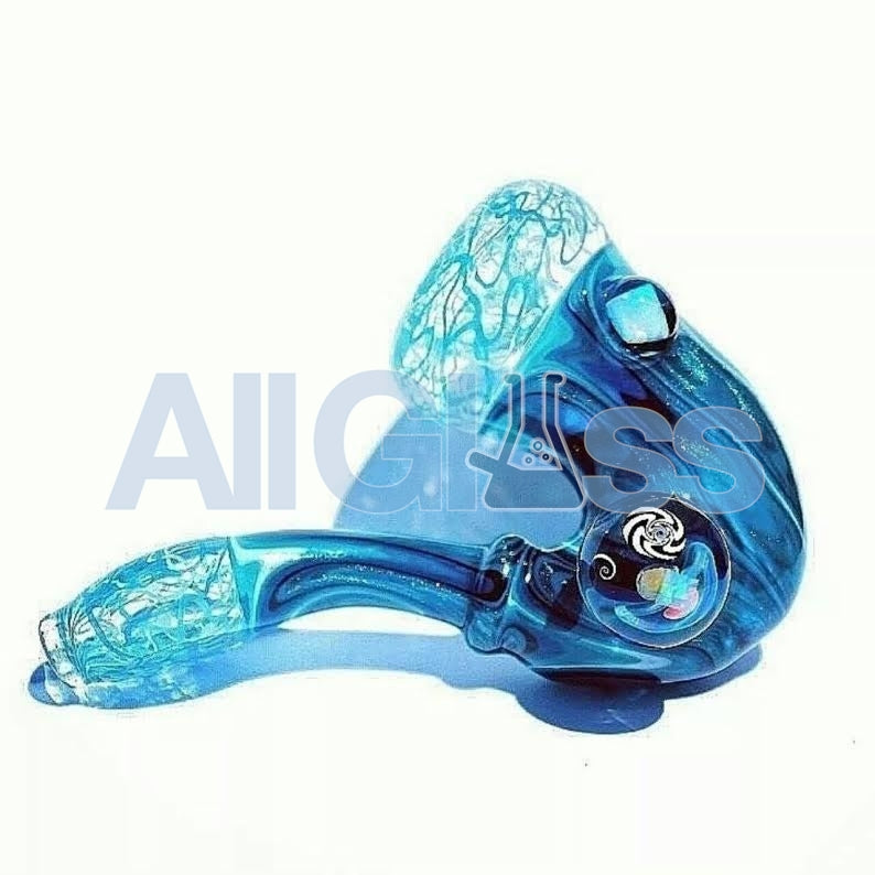 Blueberry Glass x Mike Gong Acid Eater Sherlock , Glass Handpipe - AllGlass.com, AllGlass.com