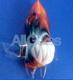 Kahuna Glass Hollow Wigwag Baby Scalien Pendant , Glass Pendants - Kahuna Glass, AllGlass.com