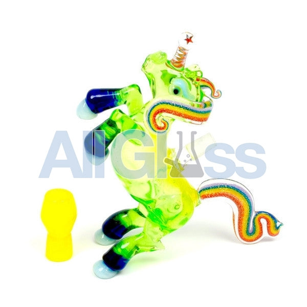 ACE Glass [Amy Likes Fire] Slyme Rainbow Unicorn Oil Rig , Glass Waterpipe - NYG&G, AllGlass.com