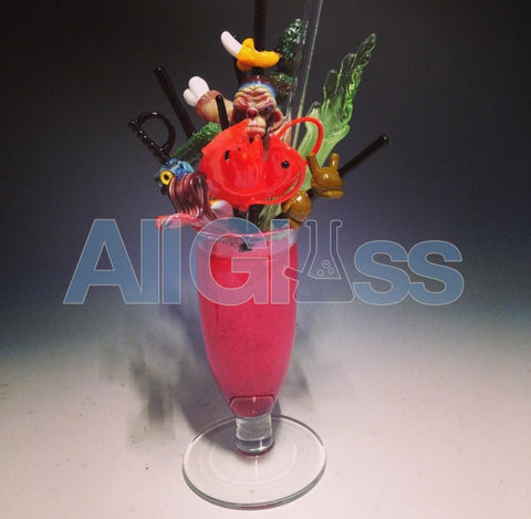 Coyle x Crunk Bloody Mary Rig , Glass Waterpipe - Roula Glass, AllGlass.com