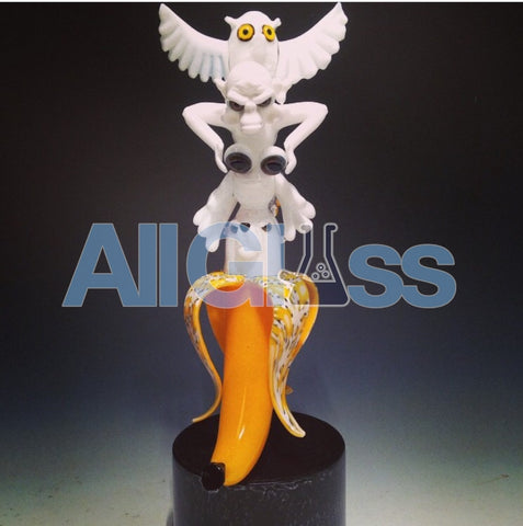 Coyle x Crunk Totem Banana Spirit Animals Rig , Glass Waterpipe - Roula Glass, AllGlass.com