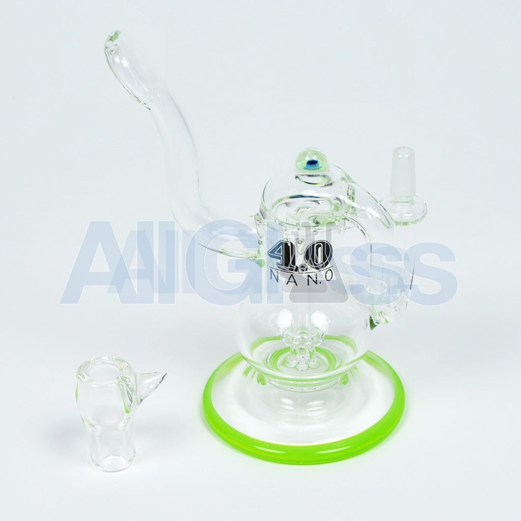 Eric Ross 4.0 Glass Nano Oil Rig , Glass Waterpipe - NYG&G, AllGlass.com