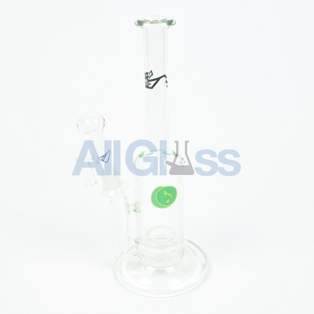 Hitman Glass Brilliance Perc Stemless MiniTube w/ Belly Button – Oil Drip label , Glass Waterpipe - AllGlass.com, AllGlass.com
