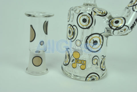 JAG x Hitman Glass Collab Hollow Radiant Circles Phase 2 Oil Rig , Glass Waterpipe - AllGlass.com, AllGlass.com