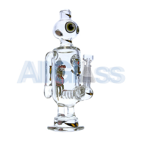 Jerome Baker Designs Robot Oil Rig - Enlighten All Humans [Natural Inline Perc] , Glass Waterpipe - Jerome Baker Designs, AllGlass.com
