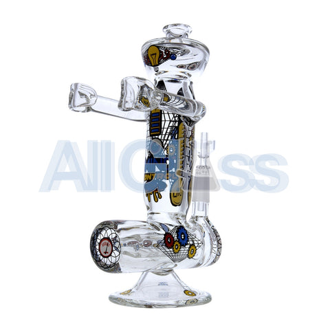 Jerome Baker Designs Robot Oil Rig - Mind Control [Inline Perc] , Glass Waterpipe - Jerome Baker Designs, AllGlass.com