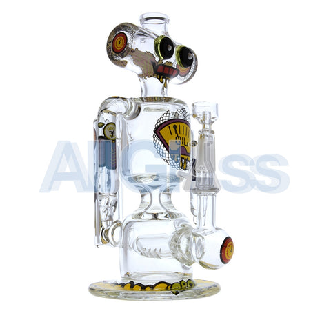 Jerome Baker Designs Robot Oil Rig Recycler - Oil Crisis [Recycling Inline Perc] , Glass Waterpipe - Jerome Baker Designs, AllGlass.com