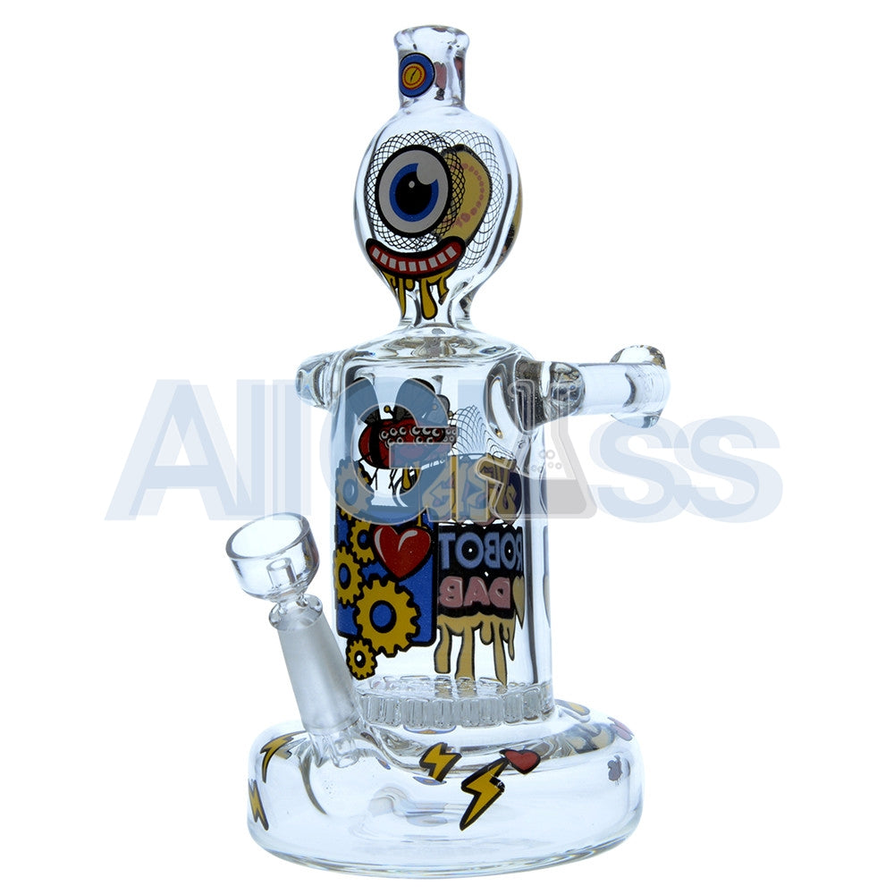 Jerome Baker Designs Robot Oil Rig - Robots Love Dabs [Honeycomb Perc] , Glass Waterpipe - Jerome Baker Designs, AllGlass.com