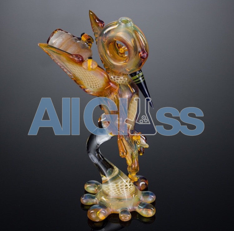Joe Peters x Calm 'Hunnyingbird' Hummingbird Rig , Glass Waterpipe - Roula Glass, AllGlass.com