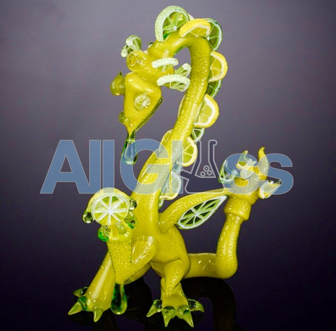 Joe Peters x Joe Peters Lemon-Lime Citrus Dragon , Glass Waterpipe - Roula Glass, AllGlass.com