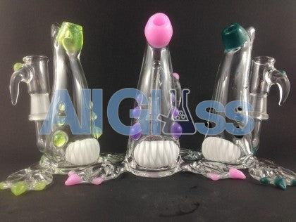 Kahuna Glass Clear/Color Accent Scalien , Glass Waterpipe - Kahuna Glass, AllGlass.com