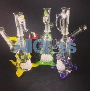 Kahuna Glass Clear-Color Accent Scalien Sidecar Pendant Rig , Glass Waterpipe - Kahuna Glass, AllGlass.com