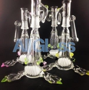 Kahuna Glass Clear/Color Accent Scalien Sidecar Rig , Glass Waterpipe - Kahuna Glass, AllGlass.com