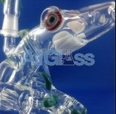 Kahuna Glass CLEAR + Color Accents Shark Monster Rig , Glass Waterpipe - Kahuna Glass, AllGlass.com