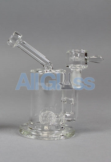 MILQ Glass Pocket Series Mini Size Signature Perc Waterpipe Rig , Glass Waterpipe - MILQ Glass, AllGlass.com