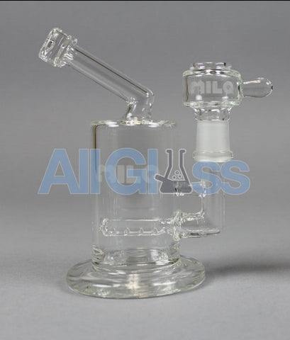 MILQ Glass Pocket Series Regular Size Signature Perc Waterpipe Rig , Glass Waterpipe - MILQ Glass, AllGlass.com