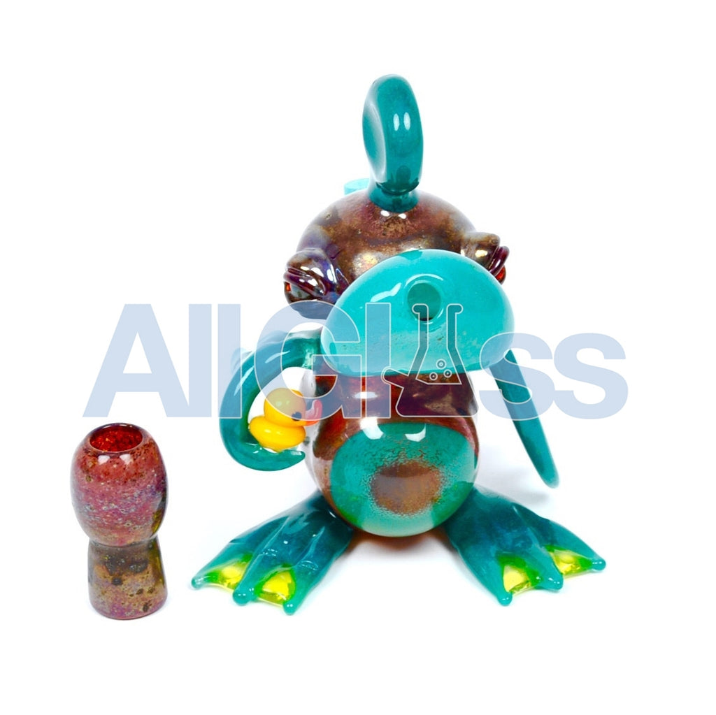 RYNO Glass x SALT Glass Collab Duck in Duck Oil Rig , Glass Waterpipe - NYG&G, AllGlass.com
