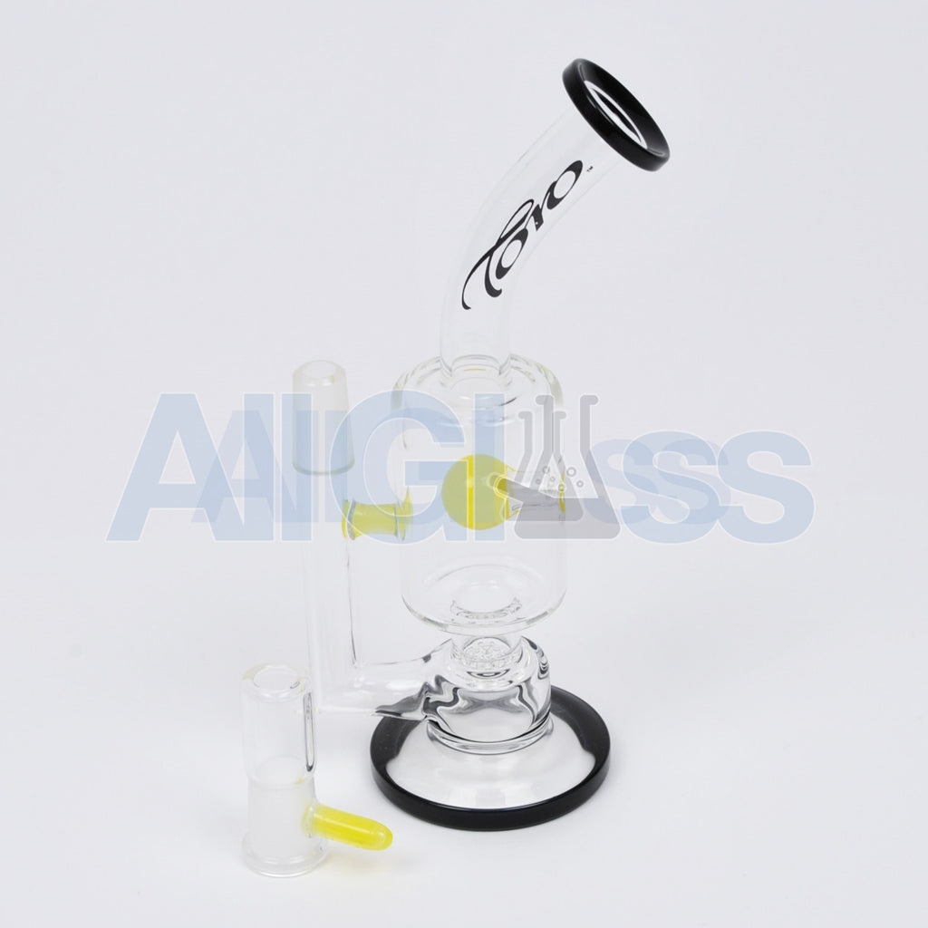 TORO Glass Stemless Jet Perc w/ Lemon Drop Accents Oil Rig , Glass Waterpipe - NYG&G, AllGlass.com