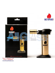 "Newport Zero 6"" Regular Torch - Gold Black , Smoking Accessory - Newport Butane, AllGlass.com  - 2"