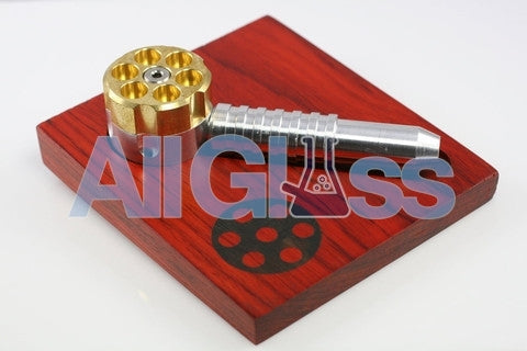 High Tech Pipes Six Shooter Pipe , Handpipe - High Tech Pipes, AllGlass.com