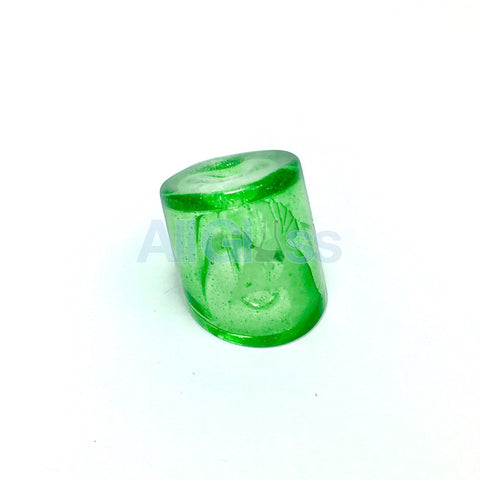Q Heffner Glass QFZ Custom Crown Edition Color Banger Carb Cap - Green Stardust