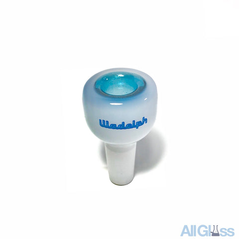 Illadelph Glass 5 Hole Slide - Blue Stardust over White - Blue Label