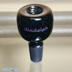 Illadelph Glass 5 Hole Slide - CFL Parallax over Black - Exclusive Purple Label