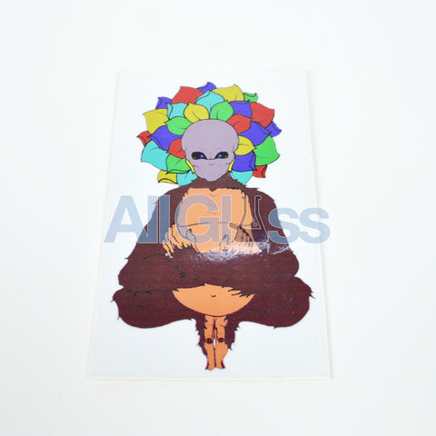 Alien Flower Monkey Sticker , Lifestyle - AllGlass.com, AllGlass.com