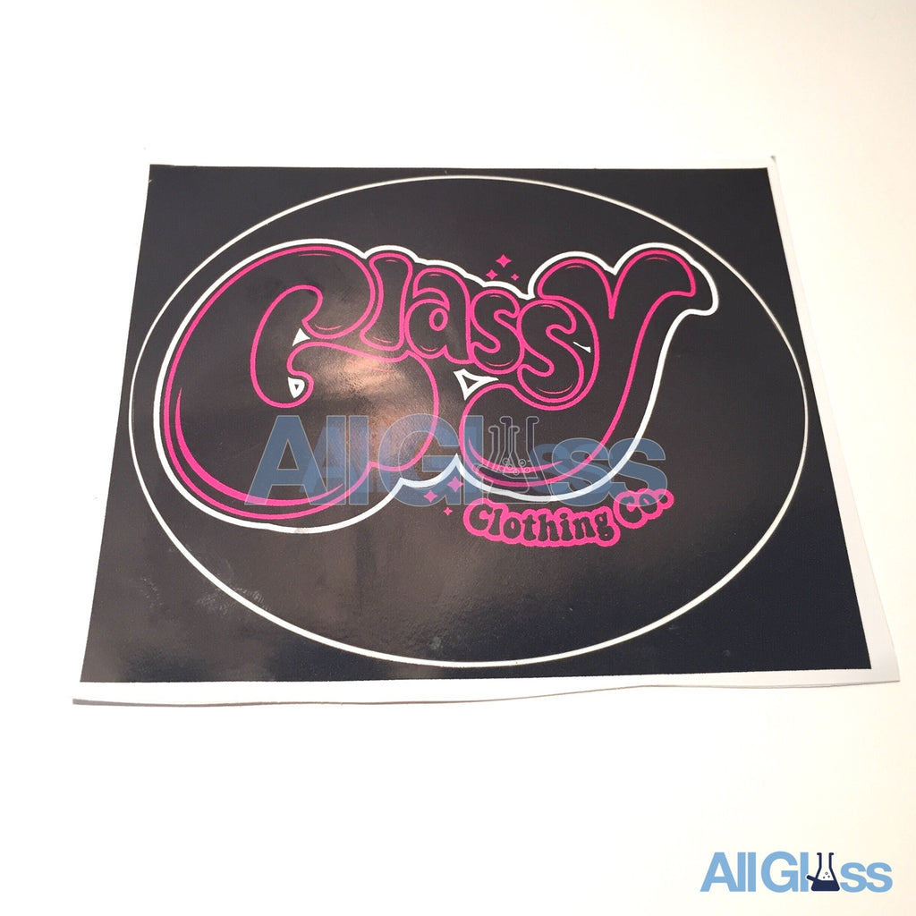 Glassy Clothing Co. Sticker - Black , Lifestyle - AllGlass.com, AllGlass.com