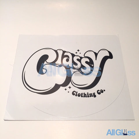 Glassy Clothing Co. Sticker - White , Lifestyle - AllGlass.com, AllGlass.com