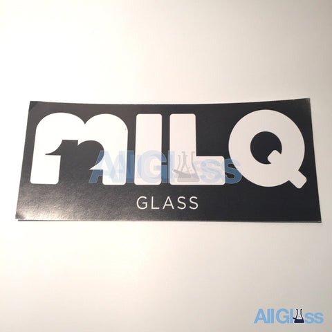 MILQ Glass Sticker - Black , Lifestyle - AllGlass.com, AllGlass.com