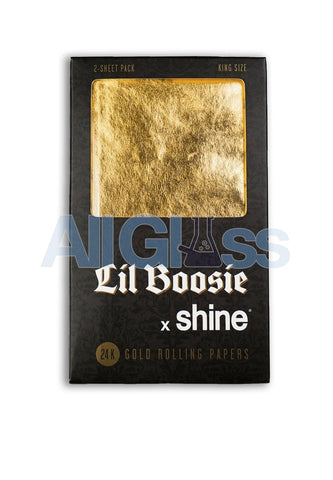Shine Papers lil boosie x shine 2 pack gold rolling papers