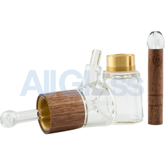 AllGlass.com - Marley Natural Glass & Walnut Bubbler
