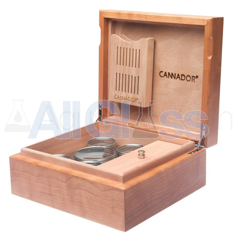 Cannador® - 5 Strain Cannabis Humidor - Cherry , Scientific Glass - AquaLab Technologies, AllGlass.com  - 1