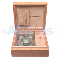 Cannador® - 5 Strain Cannabis Humidor - Cherry , Scientific Glass - AquaLab Technologies, AllGlass.com  - 3