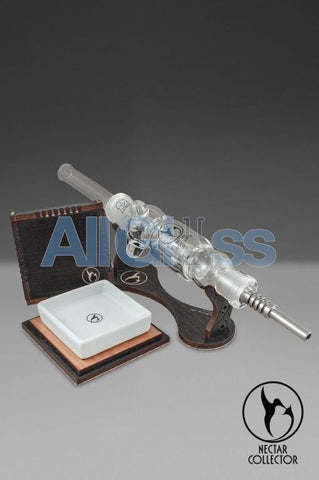 Nectar Collector Woody Stand and Protector Wood Box set , Concentrate Accessory - Nectar Collector, AllGlass.com