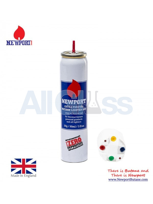 NEWPORT ZERO BUTANE LIGHTER GAS EXTRA PURIFIED 90 ml , Smoking Accessory - Newport Butane, AllGlass.com  - 1