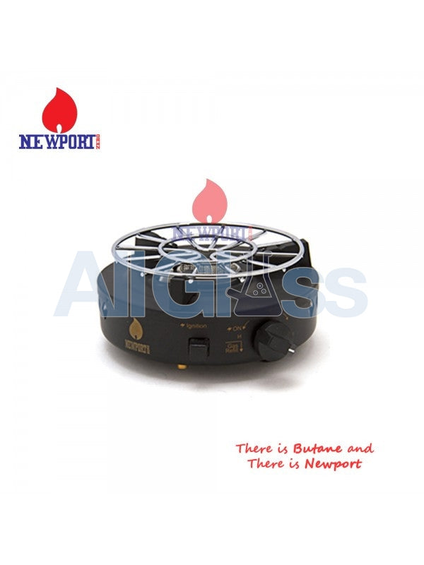 Newport Zero Portable Butane Burner - Black , Smoking Accessory - Newport Butane, AllGlass.com