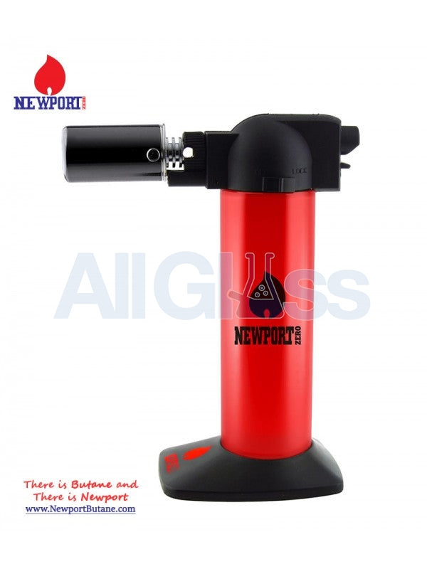 "Newport Zero 6"" Regular Torch - Red Mirror , Smoking Accessory - Newport Butane, AllGlass.com"