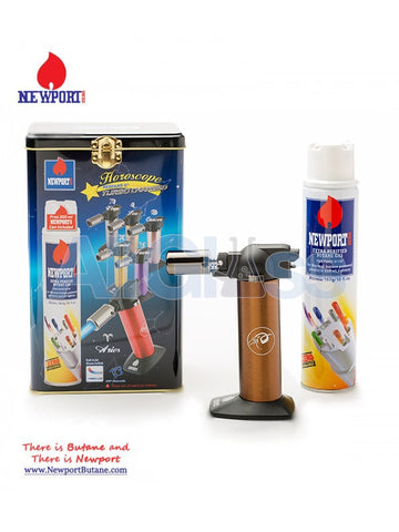 Horoscope Torch + Butane Can 300ml Kit , Smoking Accessory - Newport Butane, AllGlass.com  - 1