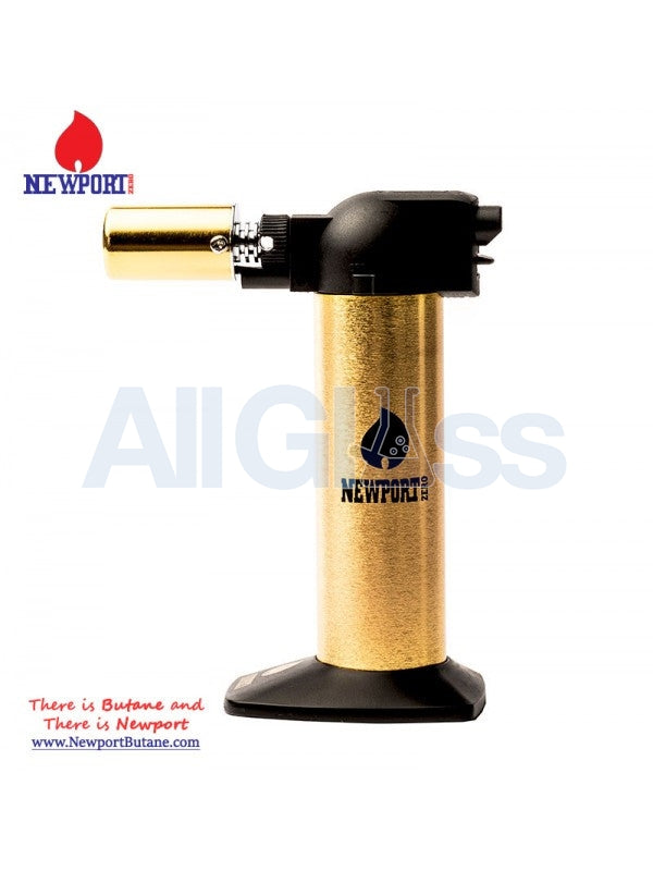 "Newport Zero 6"" Regular Torch - Gold Black , Smoking Accessory - Newport Butane, AllGlass.com  - 1"