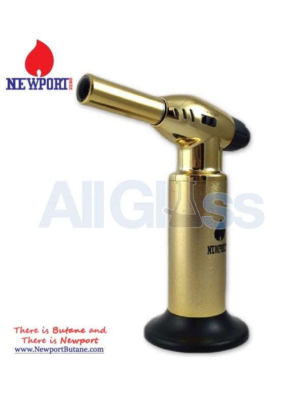 "Newport Zero 10"" Jumbo Torch - Gold , Smoking Accessory - Newport Butane, AllGlass.com  - 1"