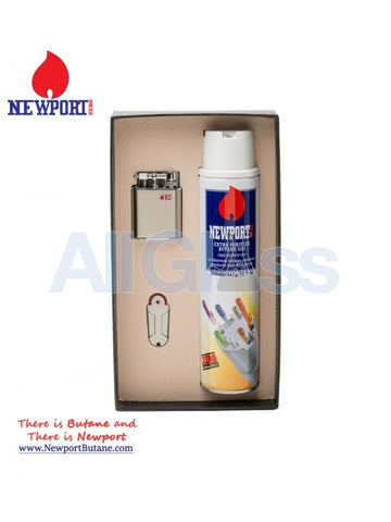 Double Torch (Small) + Newport Butane 300 ml , Smoking Accessory - Newport Butane, AllGlass.com  - 1