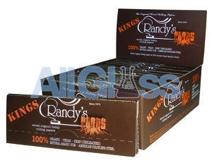 Randy's Roots KING SIZE Papers - Box of 25 , Rolling Papers & Rollers - Randys, AllGlass.com